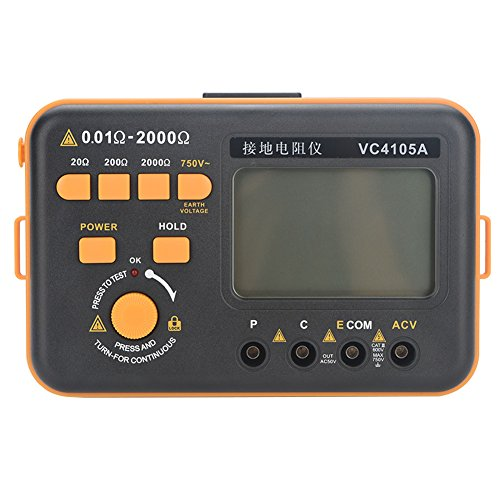 Voltage LCD Display Ground Digital Tester Resistance Meter with Accessories for Power Grid Electrical Construction Engineering