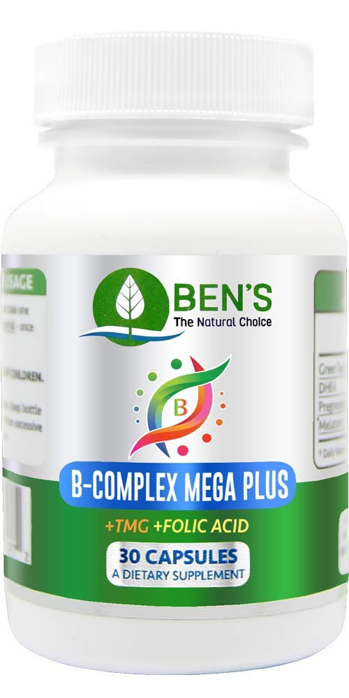 Ben's B Complex Mega Plus - Increase Strength and Balance - Improves Memory and Focus - Strengthens Immune System - Restore Libido (3 Bottles)