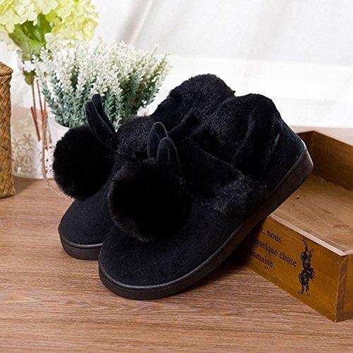 Chaussons Accueil hiver l'hiver chaleureux Chaussons chaud antiglisse noir L'hiver Pour 39 moelleux en Bottines40 chaussures au 70 LaxBa 40 txqwIvB0w