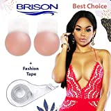 Breast Lift Nipple Cover + Double Sided Body Tape Silicone Reusable Pasties Lingerie Fashion Adhesive for Body Clothing.