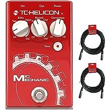 TC Helicon Vocal Mic mecánico 2Pedal de Efectos con cables (2) 20'XLR
