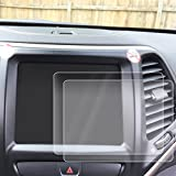 Red Hound Auto 2014-2018 Compatible with Jeep Cherokee U Connect Screen Savers 2pc Custom Fit Invisible High Clarity Touch Display Protector Minimizes Fingerprinting 8.4 Inch