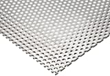3003 Aluminum Perforated Sheet, Unpolished (Mill) Finish, H14 Temper, Staggered Round 0.25'' Holes, 0.125'' Thickness, 8 Gauge, 24'' Width, 48'' Length, 0.375'' Center to Center