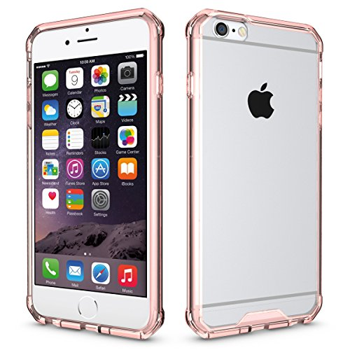 "iPhone 6s Plus Hülle, HICASER PC + TPU Hybrid Bumper Case Schutzhülle Crystal Transparent kratzfeste Tasche für iPhone 6 Plus / 6S Plus 5.5"" Rose Gold"
