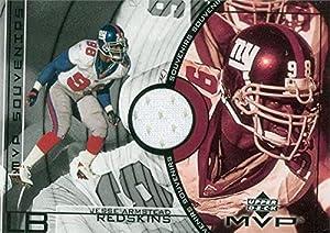 Autograph Warehouse 345047 Jesse Armstead Player Worn Jersey Patch Football Card - New York Giants 2002 Upper Deck MVP No. SSJA