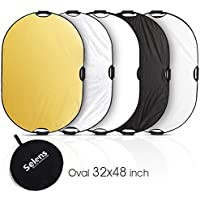 Selens 5-in-1 32x48 Inch Oval Reflector with Handle for Photography Photo Studio Lighting & Outdoor Lighting