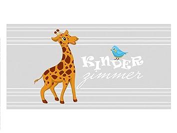 Grazdesign Sichtschutzfolie Giraffe Milchglasfolie Kinderzimmer