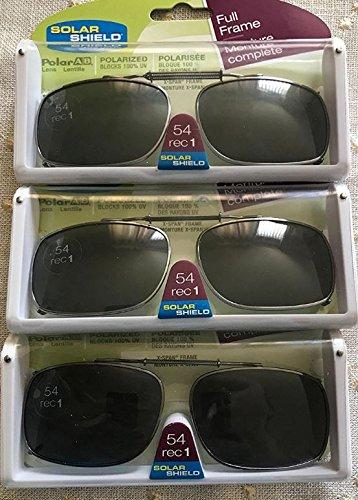 3fe36ea82a1 3 Solar Shield Clip-on Polarized Sunglasses Size 54 rec 1 Black Full Frame  New  Amazon.ca  Sports   Outdoors