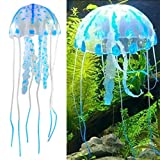 Jugtech BlastCase Glowing Effect Artificial Fake Jellyfish for Fish Tank Decoration Ornament, Blue