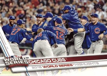 2017 Topps #206 Chicago Cubs Win 2016 World Series Baseball Card - Kris Bryant - Addison Russell - Kyle Schwarber ()