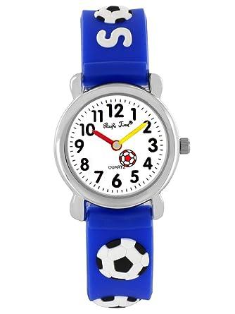 Armbanduhr kinder blau  Pacific Time Kinder-Armbanduhr Fussball Armbanduhr Kinder Jungen ...