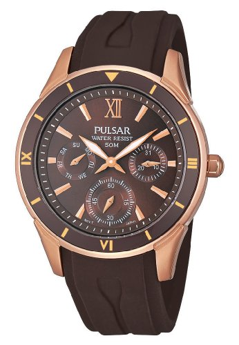 Pulsar Rubber Watch - Pulsar Uhren Women's Quartz Watch Sport PP6052X1 with Rubber Strap