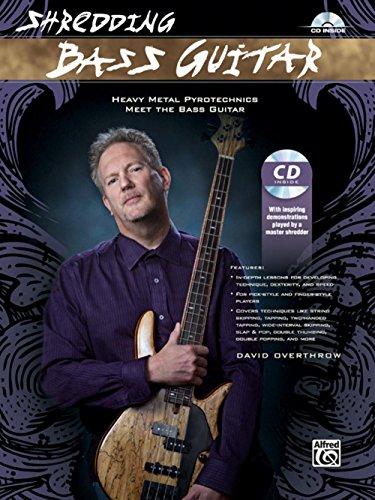 Alfred Shredding Bass Guitar: Heavy Metal Pyrotechnics Meet the Bass Guitar Book & (6 String Bass Chords)