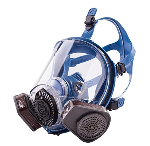 Induschoice Broad View Organic Vapor Full Face Respirator Mask Gas Mask Paint Pesticide Chemical Formaldehyde Anti Virus Respiratory Protection(Respirator +1 Pair Cartridges) by Induschoice (Image #1)
