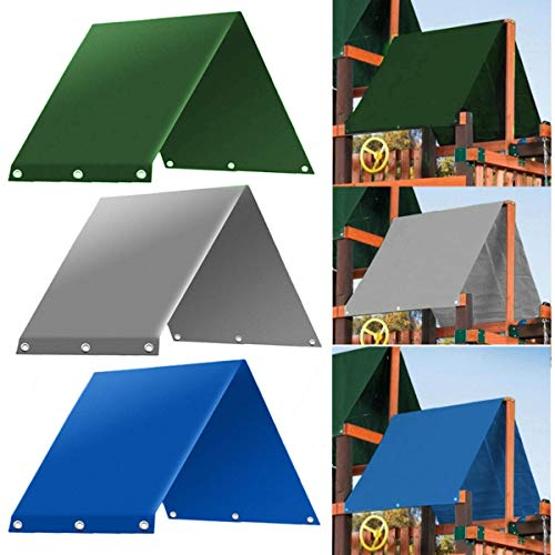 "SEVENMORE Playground Replacement Canopy, 52"" x 90"" Outdoor Swingset Shade Kids Playground Roof Canopy Waterproof Cover Replacement Tarp Sunshade"