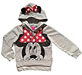 Disney Minnie Mouse Little Girls Lightweight Hoodie Shirt (3T)