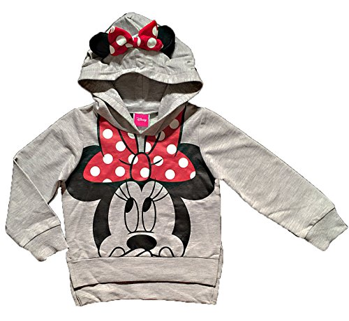 Disney Minnie Mouse Little Girls Lightweight Hoodie Shirt (2T) (Clothing Mouse Minnie)