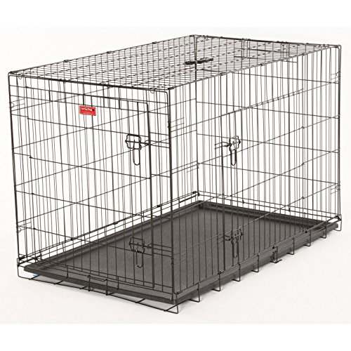 Lucky Dog 2 Door Dog Training Kennel with Rust-Resistant Wire, Handle and Leak-Proof Removable Pan, Giant – 48L x 30W x 33H Inch Review