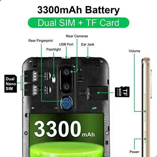 OUKITEL C12 Smartphone Libre, 6.18