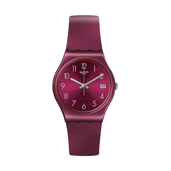 Swatch Redbaya GR405 - Reloj de cuarzo suizo de silicona, color rojo: Swatch: Amazon.es: Relojes