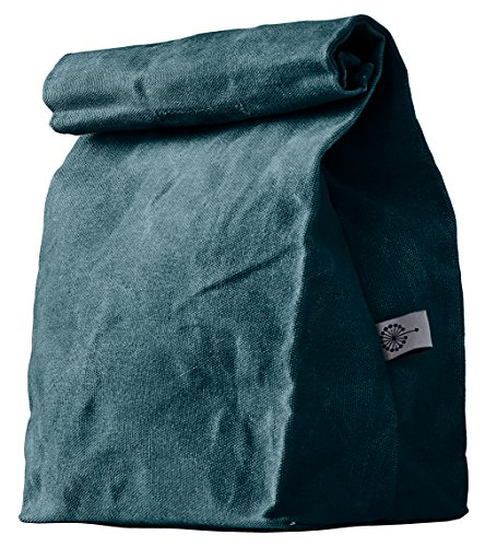 Colony Co. Lunch Bag, Waxed Canvas, Durable, Plastic-Free, Blue, For Men, Women and Kids