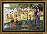 """This 33.25"""" x 47.25"""" premium giclee canvas art print of Sunday Afternoon On The Island of La Grande Jatte - Study by Georges Seuratis meticulously created on artist grade canvas utilizing ultra-precision print technology and fade-resistant archival ..."""