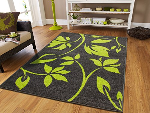 luxury new fashion large 8x11 rugs for living room 8x10 green flowers leaves rug art rug for living room with gray background area rugs