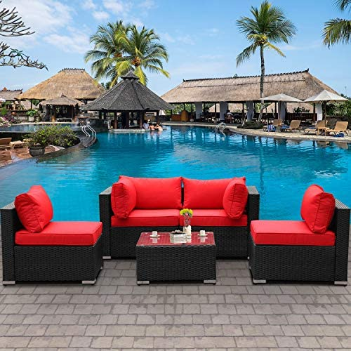 Outdoor Patio PE Wicker 5 Piece Furniture Set