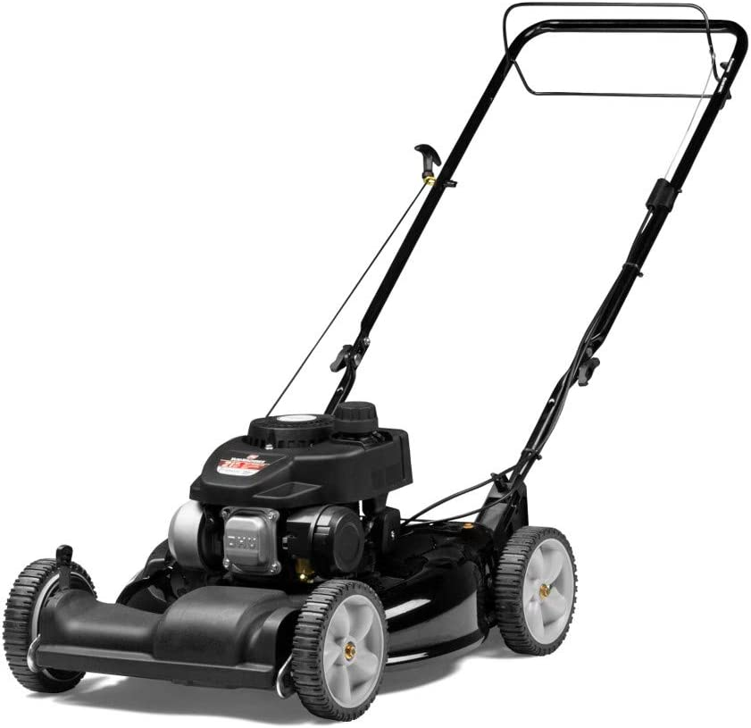 Yard Machines 140cc OHV 21-Inch 2-in-1 Self-Propelled FWD Gas Powered Lawn Mower – Perfect for Small to Medium Sized Yards – Side Discharge and Mulching Capabilities, Black