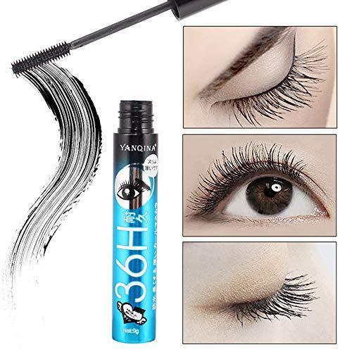 (GoodLock Hot!! 4D Fiber Mascara Fashion Double Head Long Black Lash Eyelash Extension Eye Makeup Tool Luxuriously Longer, Thicker, Voluminous Eyelashes, Long-Lasting, Dramatic Extension)