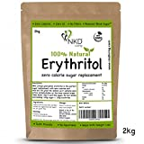 100% Natural Erythritol 2 Kg (4.4 lb) | Granulated ZERO Calorie Sugar Replacement