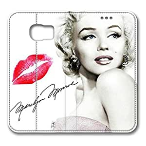 iCustomonline Leather Case for Samsung galaxy S6, Marilyn Monroe Quotes Ultimate Protection Leather Case for Samsung galaxy S6