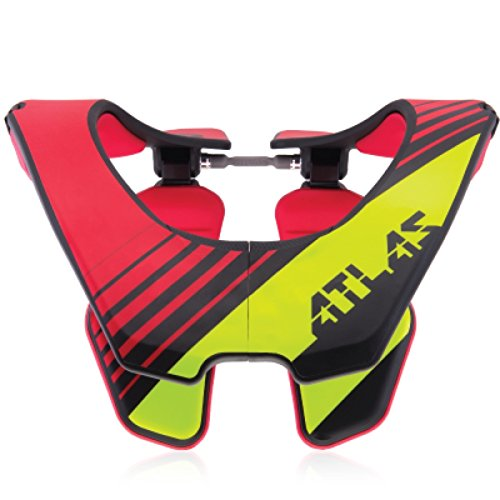 Atlas Air Brace Radioactive Neck Brace Red Large Motocross MX Protection by Atlas