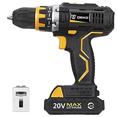 DEKO Cordless Drill Driver Household DIY Woodworking Power Tools Electric Power Drill