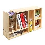 Beige Wood Adjustable Desktop Organizer / Book Shelf / Supply Storage Rack