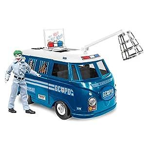 DC Comics Bus Playset for 8 Inch Retro Figures: GCPD With Exclusive Joker Figure