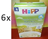 6 x HIPP BABY RICE ORGANIC CEREAL PAP 1 PACK 200g NO ADDED SUGAR,FROM 4 MONTHS,FRESH