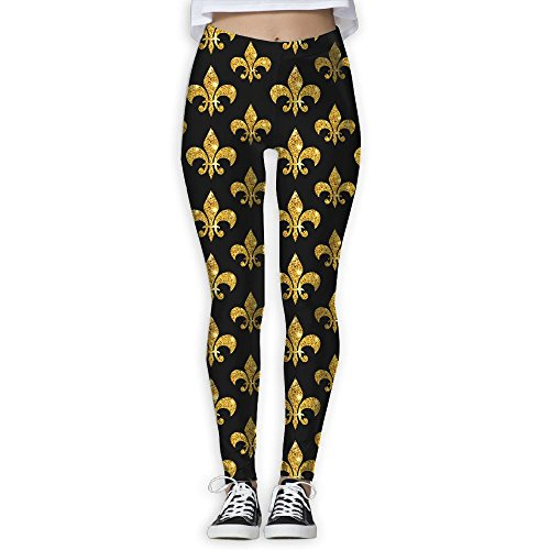 Mardi Gras Golden Women's Stretchable Sports Running Yoga Workout Leggings Pants M For Sale
