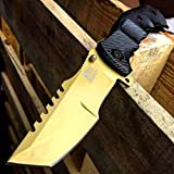 Cheap 9″ M-Tech Gold G10 Spring Assisted Open Folding Pocket Knife Tactical Combat