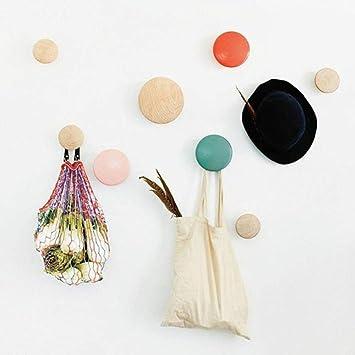 yamybox 5pcs/Set Colorful Hanger Floor Bag Wall Hanger Wood ...