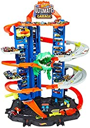 Hot Wheels City Robo T-Rex Ultimate Garage Multi-Level Multi-Play Mode Stores 100 Plus 1:64 Scale Cars Gift id