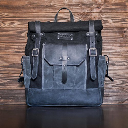 bag laptop rucksack for Designers Grey leather Genuine 4XnP8qBx