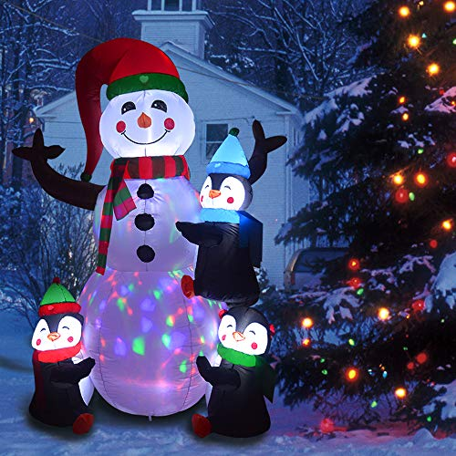 Outdoor Lighted Snowman Head in US - 4