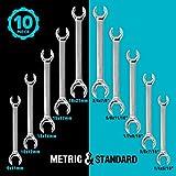 GEARDRIVE Flare Nut Wrench Set, Standard