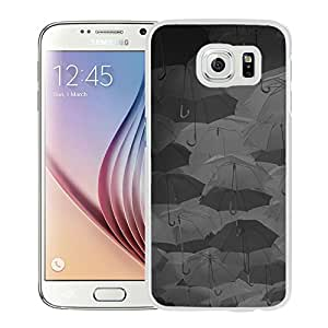 Beautiful Samsung Galaxy S6 Cover Case ,Umbrella Party Dark Pattern White Samsung Galaxy S6 Phone Case Unique And Durable Designed Screen Case
