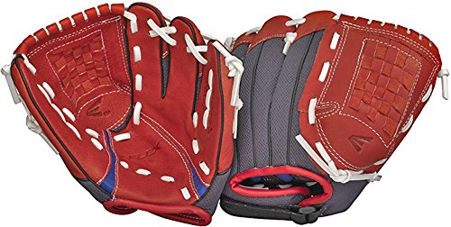Easton Youth Z-Flex ZFX 901 Ball Glove (9-Inch), Red/Black, Right Hand Throw