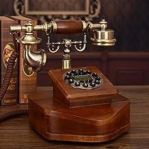Imitation Old Telephones Garden Retro Home Landline Office Fixed Words Solid Wood Telephone