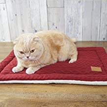 iDog Japan Dog / Cat Self Warming Eco Hot Mat Quilt Knit, (23 in x 16 in.)