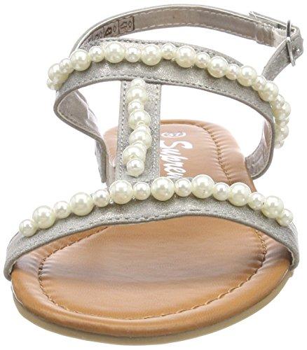 Supremo Women's 4824604 T-Bar Sandals Grey (Grey) Svy4qG9p