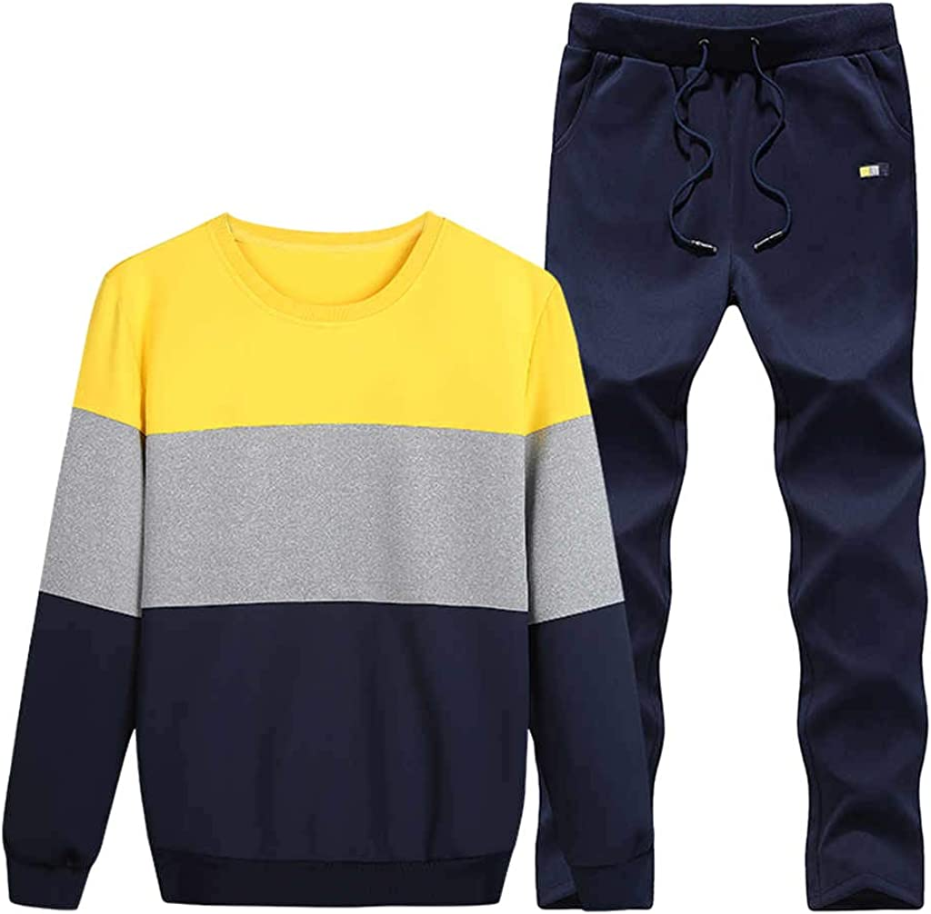 Mens Sport Sweat Suits Clothing Pants Fashion Set Casual Suit Sets Tracksuits Round Neck Outerwear Tops Pullover
